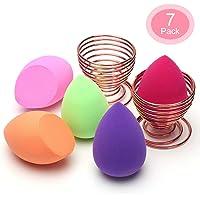 Spugna Trucco, O'Vinna 5 pcs Beauty Sponge + 2 pcs Supporto di Spugnette for Women Blush Correttore, Ombretto, Cipria, Crema Cosmetica