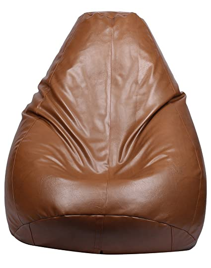Superb Buy Vizwass Luxury Artificial Leather Brown Bean Bag With Pabps2019 Chair Design Images Pabps2019Com