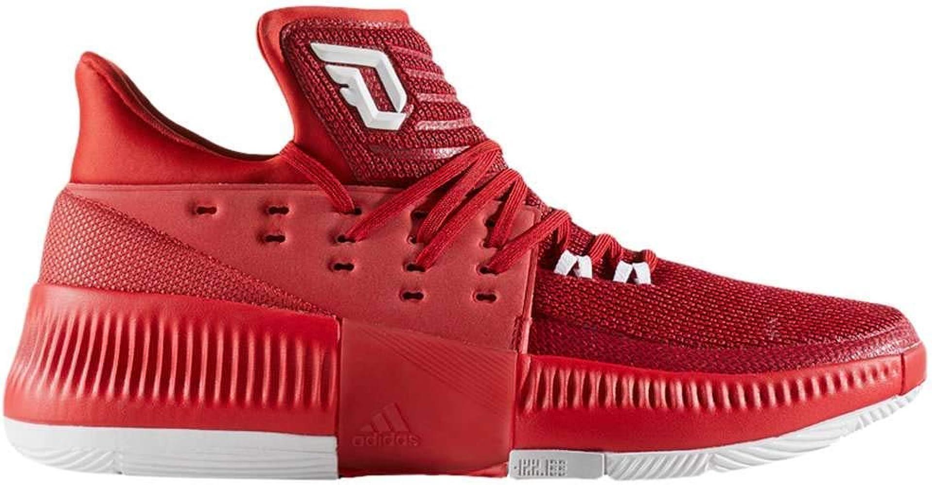 adidas Men's Dame 3 Basketball Shoe Red