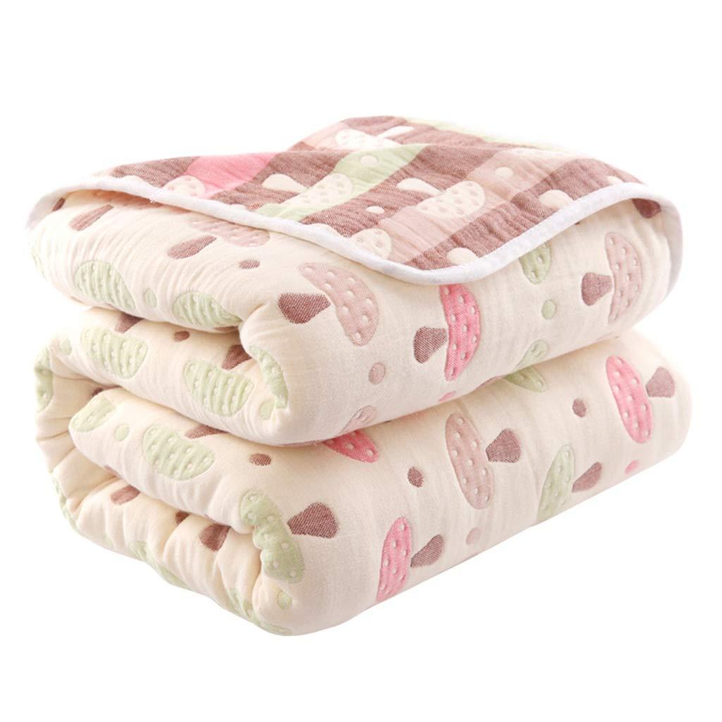 QFF-暖かく保つ 子供毛布、印刷ランチ休憩エアコン毛布タオルダブル人綿寝室ホテルソファ毛布 エアコンキルト (サイズ さいず : 180*200CM) B07PGDJ86V  180*200CM