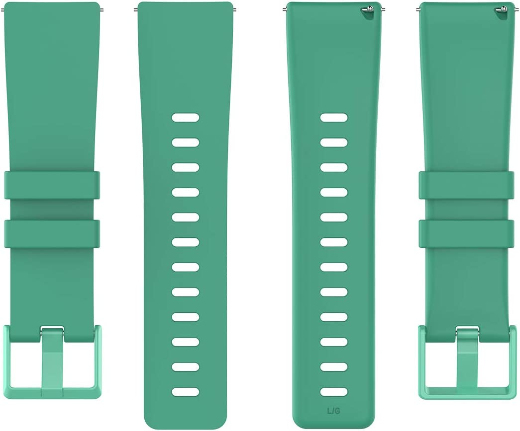 Small Large QGHXO Band for Fitbit Versa//Versa 2 Soft Silicone Adjustable Replacement Sport Strap Band for Fitbit Versa//Versa 2//Versa Lite//Versa Special Edition Smartwatch