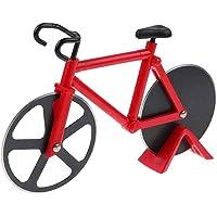 TrifyCore rotella tagliapizza a forma di bicicletta materiale di acciaio inox/plastica (Rosso)