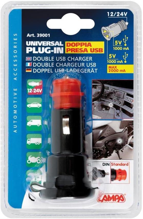 Lampa 39001/Doppel USB Stecker Universal 12//24/V