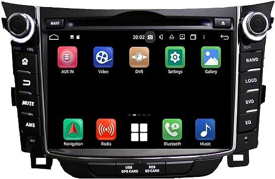 7 Zoll Touchscreen Android 10 0 Autoradio Für Hyundai Elantra Gt I30 2011 2018 4 Gb Ram 32 Gb Rom Dvd Player Bluetooth Gps Navigation Dab Radio Haupteinheit Navigation