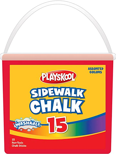 White, 15pcs 15 Sticks White Sidewalk Chalk for Kids Teachers Painting Art Crafts,Dustless Washable Educational Game Accessories