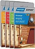 Norton Lot de 5 Garnitures bois 70 x 125 mm Grain 80
