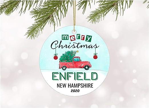 Christmas In New Hampshire 2020 Amazon.com: Christmas Ornaments 2020 Christmas Tree Enfield New