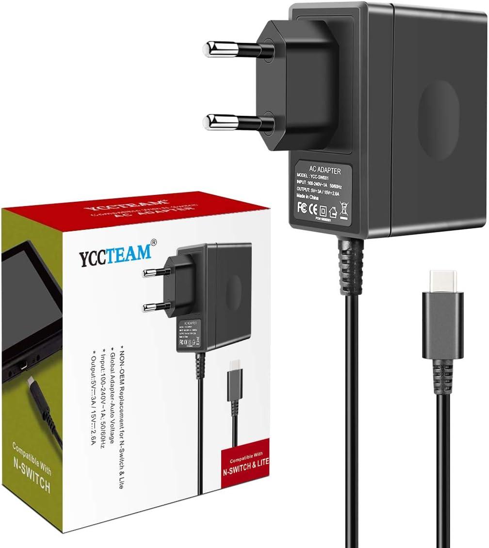 Nintendo Switch - Cargador de Viaje para Nintendo Switch y Otros Dispositivos Tipo C: Amazon.es: Electrónica