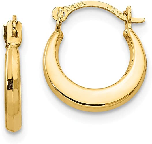 Mia Diamonds 14k Yellow Gold Madi K Hoop Earrings