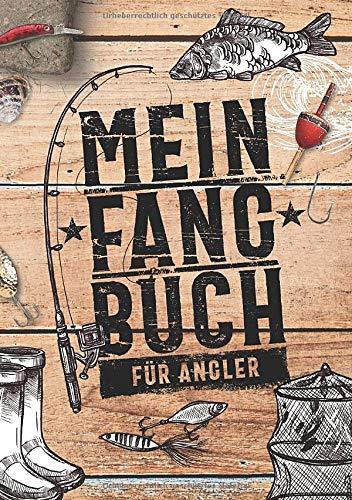 Mein Fangbuch Für Angler  Notizbuch Zum Angeln Auf Hecht Zander Barsch Karpfen Forelle Hering Für Fänge Fotos Fische Köder Uvm. • 148 X 21 Cm • DIN A5 • 110 Seiten