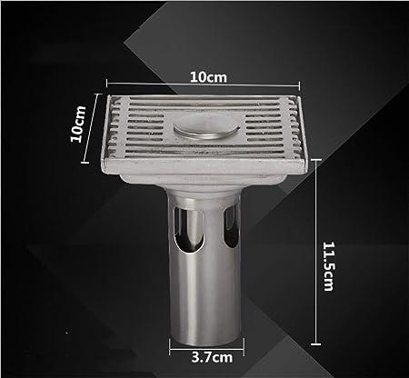 UNIQUE-F 10 cm Desodorante Cuadrado Grueso de Acero Inoxidable ...
