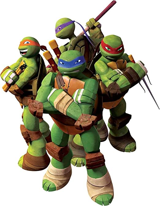 Amazon.com: Las Tortugas Ninja TMNT extraíble calcomanía ...