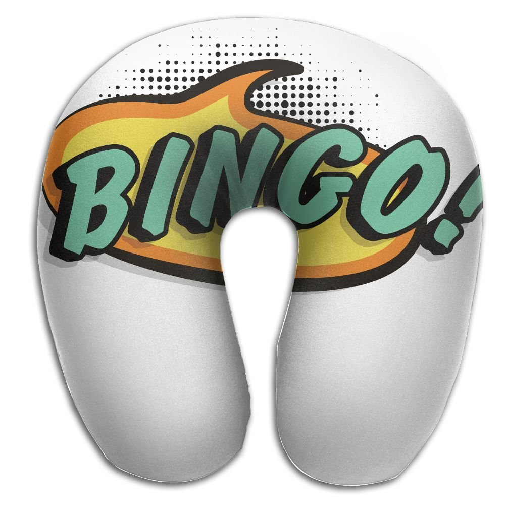 DMN U-Shaped Neck Pillow Bingo Logo Pillows Soft Convertible Portable Multifunctional For Travel Reading And Sleeping