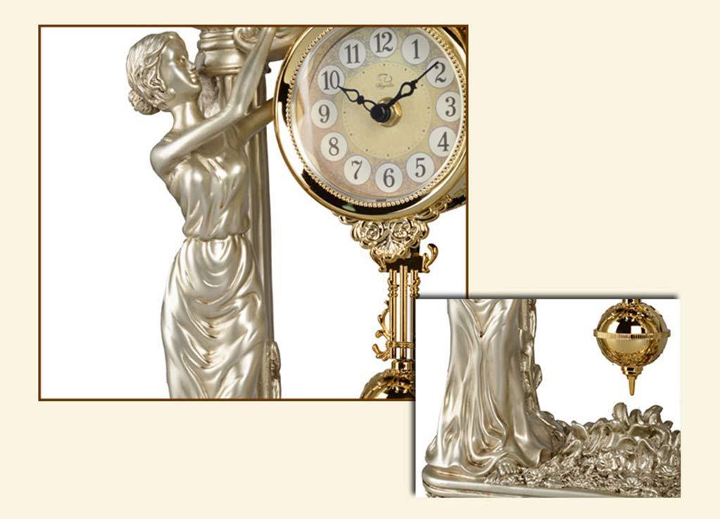 Yuany Reloj de Escritorio Relojes Familiares Mudo doméstico ...
