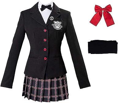 Persona 5 Protagonist Cosplay Costume Akira Kurusu Halloween Uniform Outfit set
