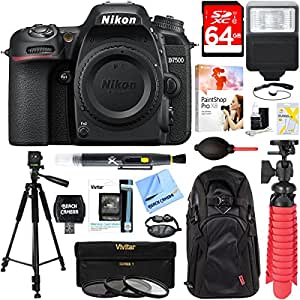 Nikon D7500 20.9MP DX-Format Digital SLR Camera (Body Only) + 64GB Deluxe Accessory Bundle