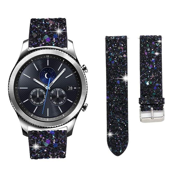 Correa de Reloj para Samsung Galaxy Watch de 42 mm con Purpurina ...