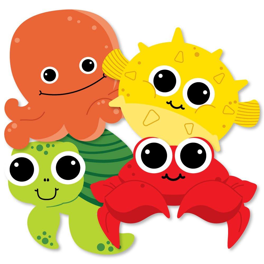 Amazon.com: Under The Sea Critters - Octopus, Pufferfish, Sea Turtle ...