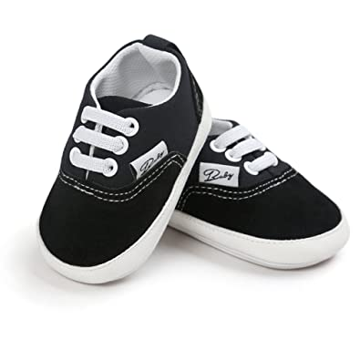 11029664a98 CoKate Baby Boys Girls Non-Slip Sneaker First Walkers Shoes Toddler Canvas  Shoes (0
