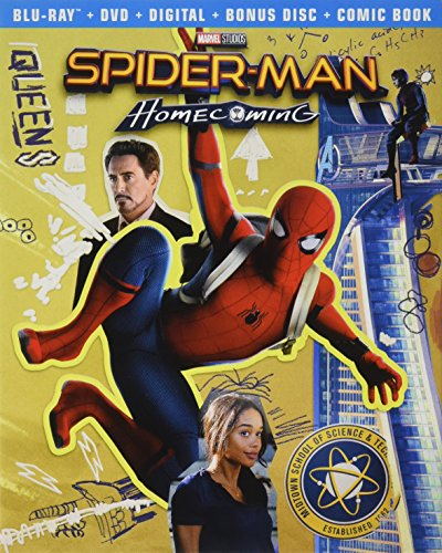 (Spider-Man Homecoming Exclusive: Comic Book & Bonus Content (Blu-ray + DVD + Digital))