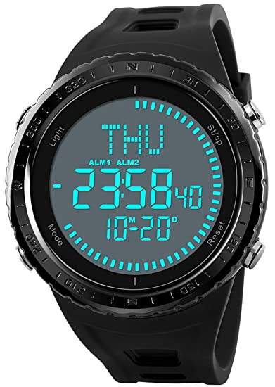 Men's Watches Collection Here Skmei Men Women Sport Watch Fashion Black Waterproof Digital Wristwatch Auto Date Chronograph Week Display Compass Clock