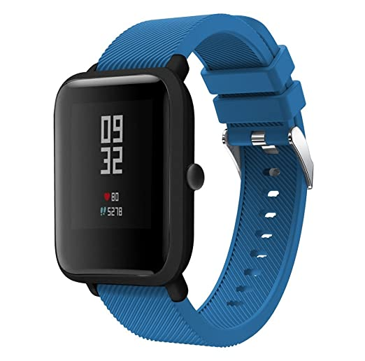 JKfine - Correa para Huami Amazfit Bip Youth Watch - Deporte Suave Silicona Accesorios Reloj Banda de Reemplazo Pulsera para Huami Amazfit Bip Youth Watch: ...