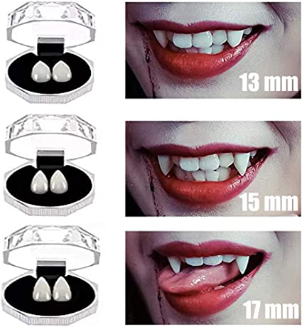 2 pcs Werewolf Fangs Box Teeth Vampire Fancy Party Tooth Halloween Party Cosplay
