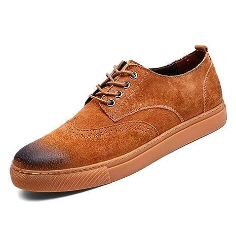 Shufang-shoes, Zapatos Mocasines para Hombre 2018 Cómodos y Suaves con Cordones de los