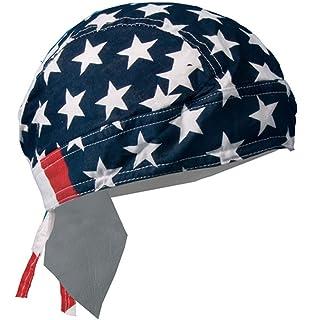 Classic Patriotic Black /& White Stars /& Stripes Flag Doo Rag Headwrap Skull Cap