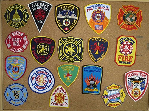 INDIANA FIRE/RESCUE PATCHES! SET TWO! LOT OF 18!