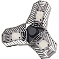 Coomoors 60W Garage Ceiling Light With 3 Ultra-Bright Adjustable Panels