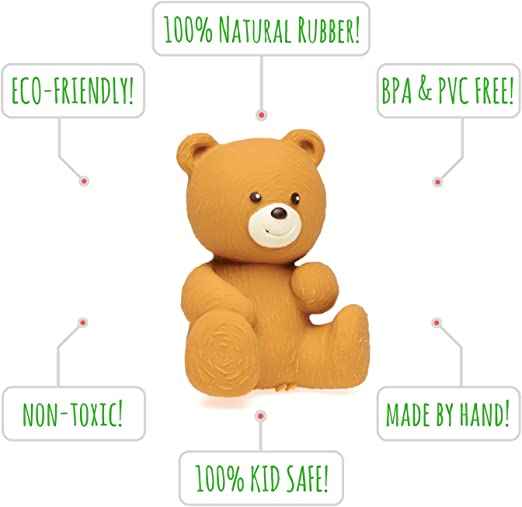 Lanco Natural rubber Teething Toy Tommy the Bear by Lanco