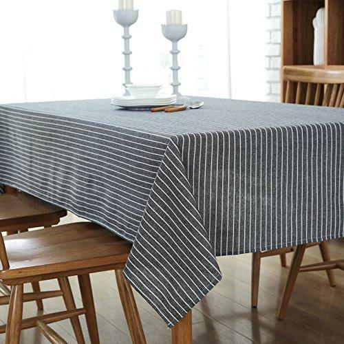 VLIMG Tischdecken , Retro-minimalistische Baumwolle Streifen Tischdecke, grau, 135  200cm B07B2X3NLJ Tischdecken Ein Gleichgewicht zwischen Zähigkeit und Härte  | Meistverkaufte weltweit
