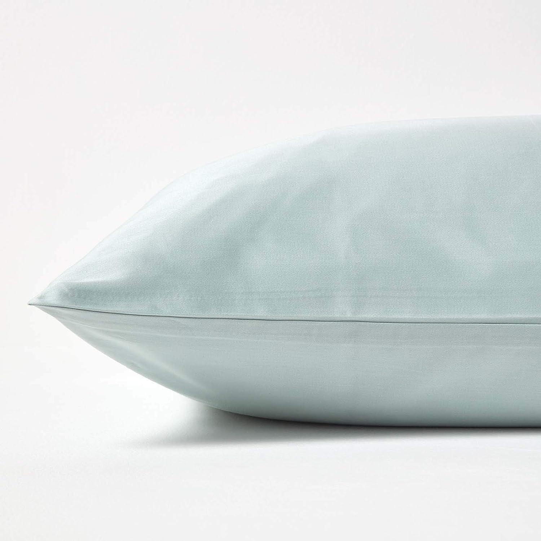 Taie d/'Oreiller rectangulaire 50 x 75 cm Blanc HOMESCAPES 400 Fils 100/% Coton Bio
