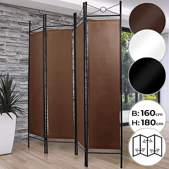 MIADOMODO Biombo Separador - 4 Paneles, 180x160cm, como Pantalla, Cambiador, Decoración, Divisoria, Creador de Espacios, Elección de Color - Separador de Ambientes Plegable, Divisor de Habitaciones: Amazon.es: Hogar