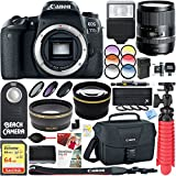 Canon EOS 77D 24.2 MP Digital SLR Camera + Tamron 16-300mm Di II VC PZD Macro Lens Accessory Bundle
