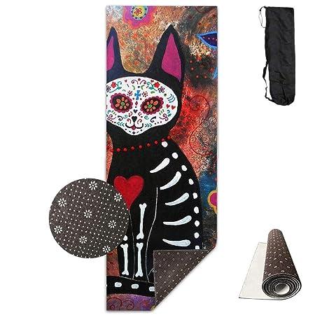Louis Berry Skull Cat Deluxe, Esterilla de Yoga aeróbica ...