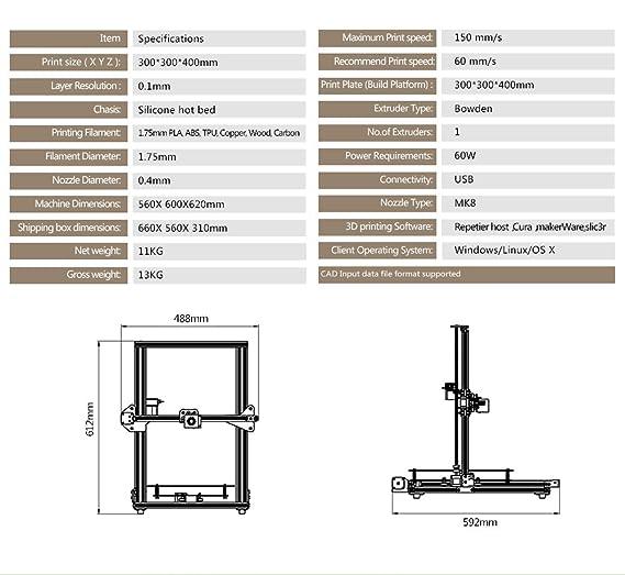 TEVO Tornado - Impresora 3D montada en 95%: Amazon.es: Electrónica