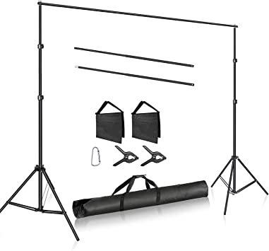 10ft x 10ft MOUNTDOG 3M x 3M//10ft x 10ft Photo Backdrop Stand Kit Photography Studio Background Support System with 4 Clamps Carrying Case Heavy Duty Stand for Video Shooting Portrait /¡/­