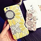 iPhone 7 Plus Case(5.5inch),Blingy's Beautiful Flower Pattern Series Transparent Soft Rubber TPU Clear Case for iPhone 7 Plus (Painted Sunflower)