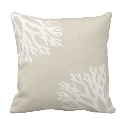 Amazon Emvency Throw Pillow Cover Beige Light Sea Coral Color Simple Coral Colored Decorative Pillows