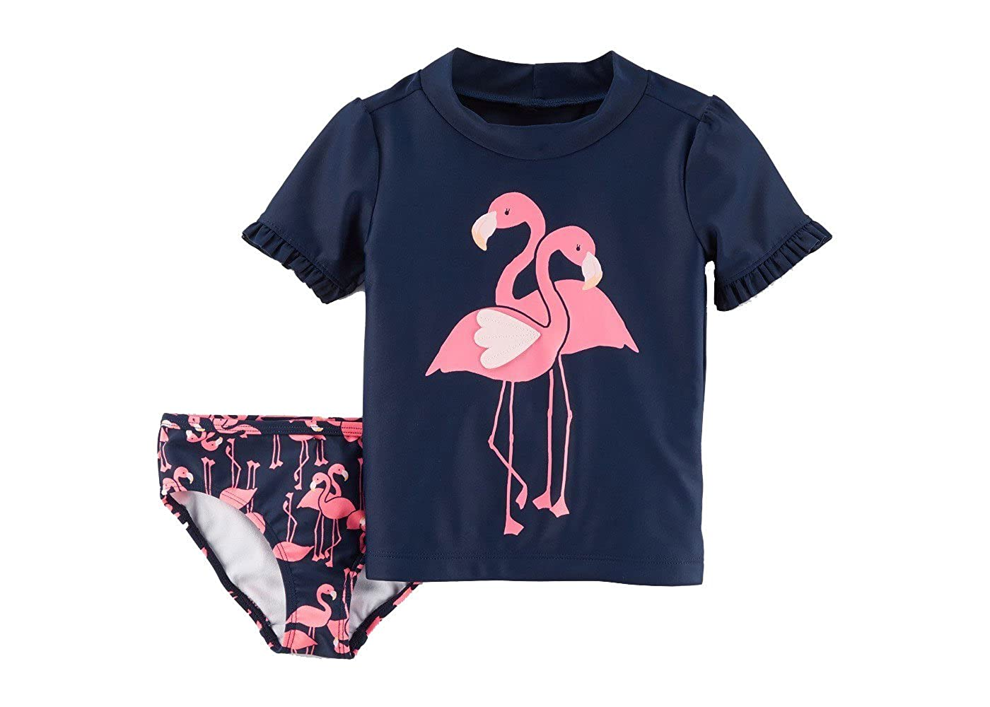 a67d6b6f0 Flamingo Graphic on Shirt and Bottoms Your girl is sure to be the life of  the pool party in the Flamingo Rash Guard Set from Just One You made by  Carter's.