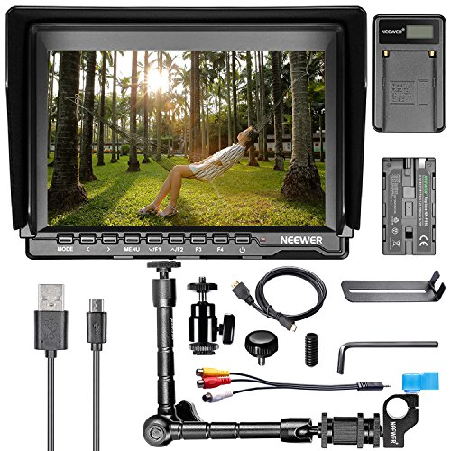 Neewer® NW759 7Inch HD Camera Monitor Kit, 1280x800 IPS S