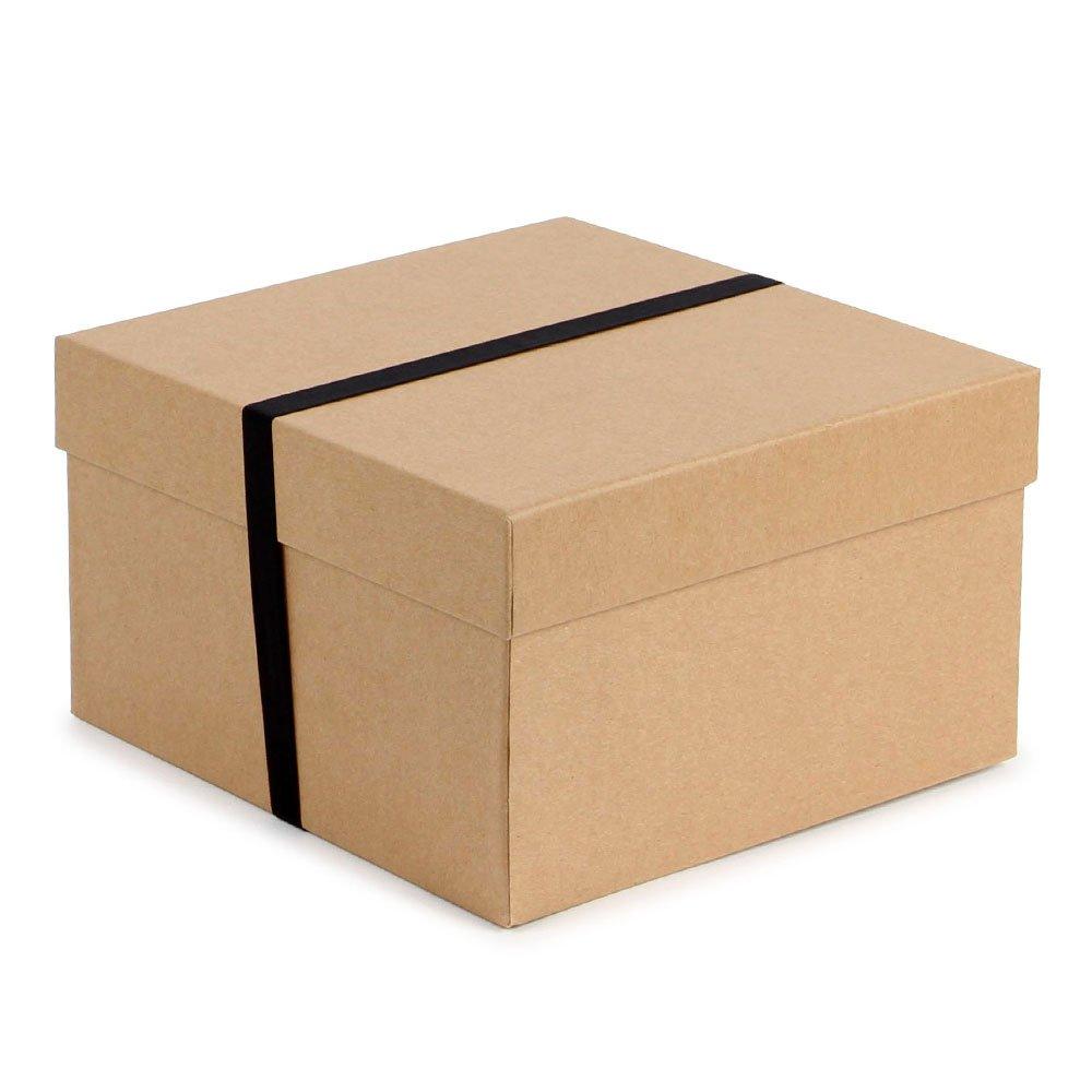 Black Lift off Lid Gift Box (XB0782): Amazon.co.uk: Kitchen & Home