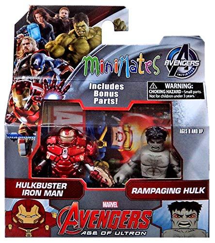 Marvel Avengers Age of Ultron Minimates Series 63 Hulkbuster Iron Man & Rampaging Hulk 2