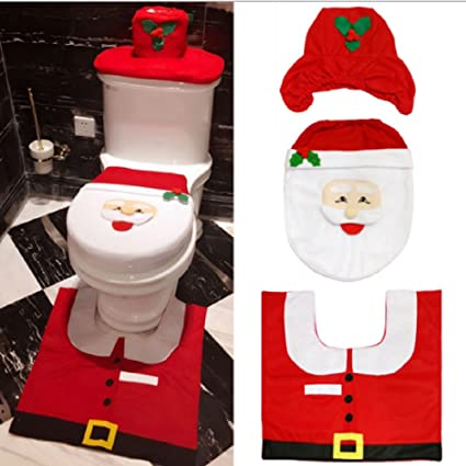 CHRISTMAS KITCHEN CHAIR COVER FEATURING MR AND MRS SANTA CLAUS Transform Your Dining Room Chairs