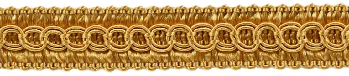 1.27cm Basic Trim Decorative Gimp Braid, Style# 0050SG Color: GOLD - C4, Sold by the Yard (1 Yard = 91cm/3ft/36