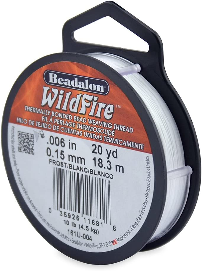 0.006-Inch Beadalon Wildfire 0.006 Black 20 yd Thermally Bonded Beading Thread
