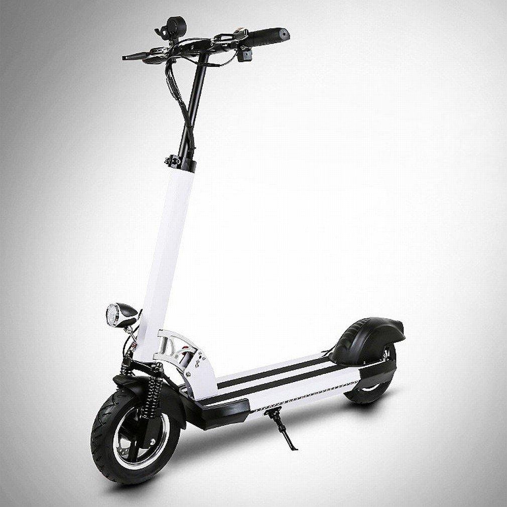 PH Mini Elettricità Pieghevole Scooter Adulto per Smorzare la Bicicletta per Conto Di Guidare Due Cicli Di Batteria Al Litio Scooter,Bianca