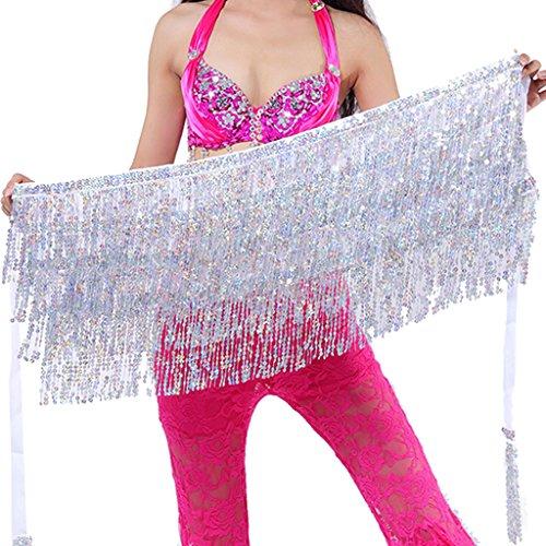 Wuchieal Belly Dance Skirt Hip Scarf Hot dance hip Belt skirt Latin dance Hula hip scarf - Fringe Shimmy